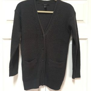 Forever 21 Waffle Knit Cardigan Sweater